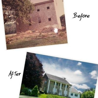 Before and After Stone Farmhouse Renovation