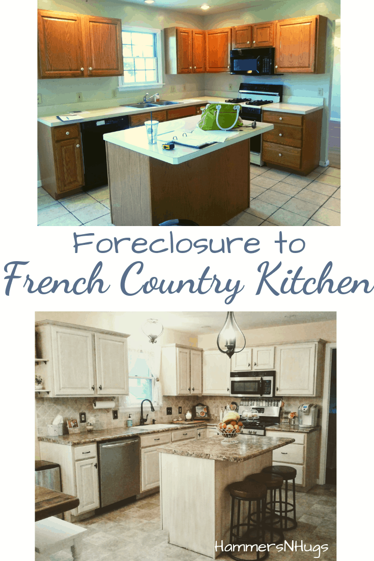 foreclosure to french country kitchen
