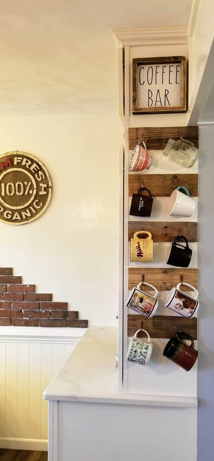 How to Add a Pallet Mug Rack in 3 Easy Steps