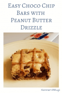 Easy Choco Chip Bars with Peanut Butter Drizzle Recipe