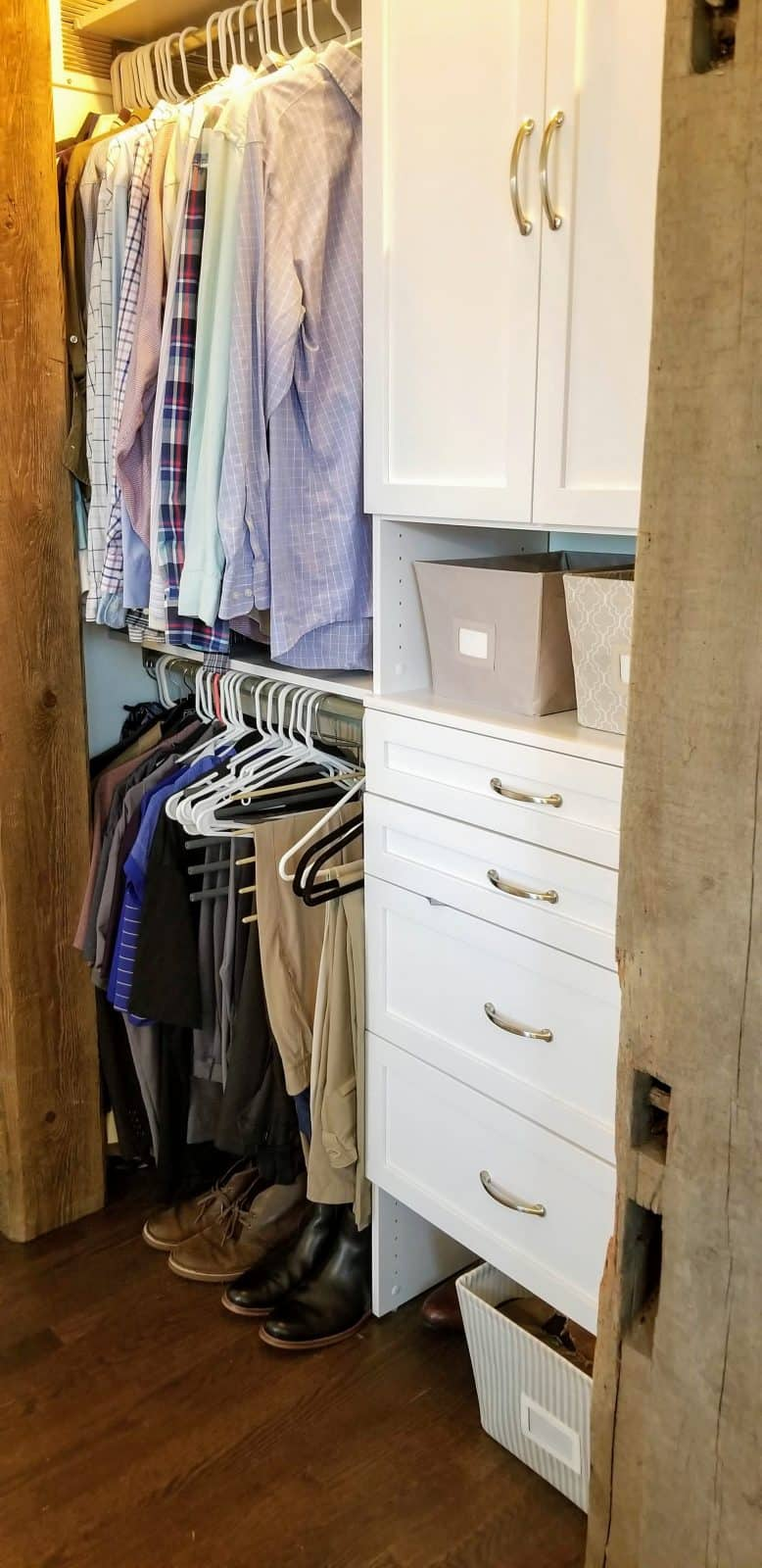 Farmhouse Style Master Closet Reveal