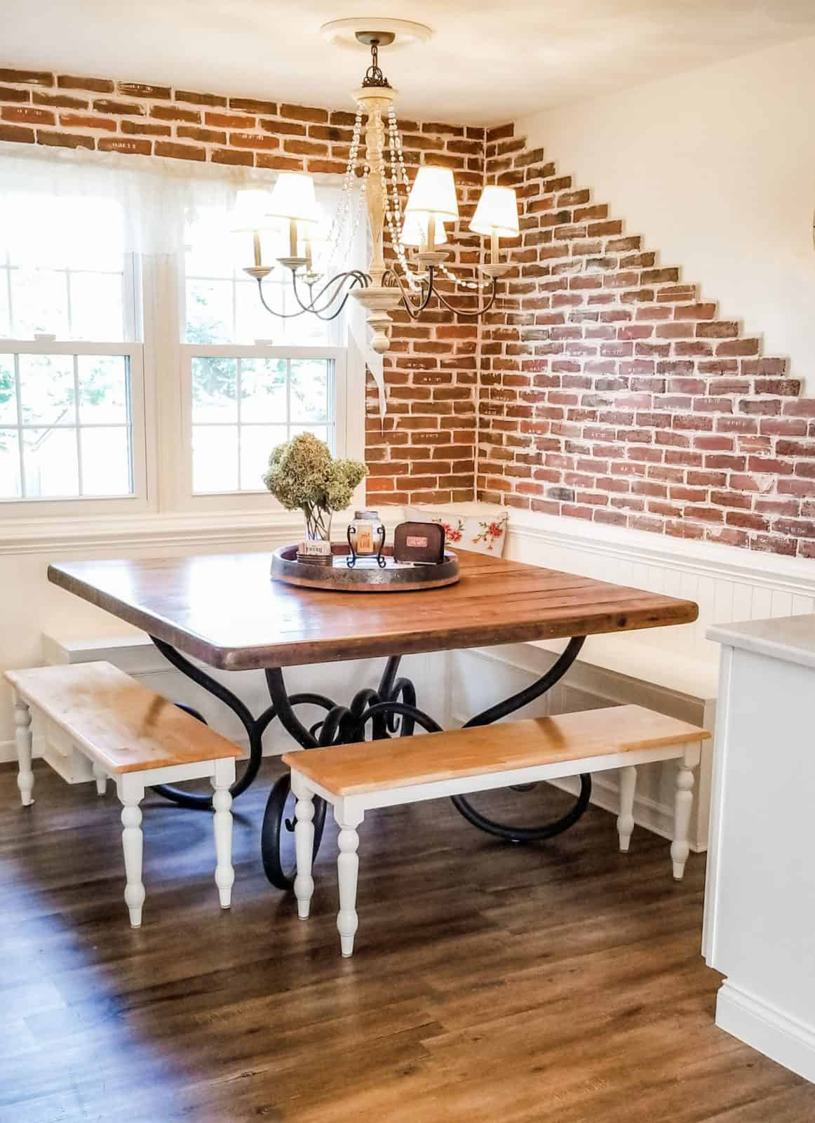 French Country Farmhouse Style Breakfast Nook Reveal