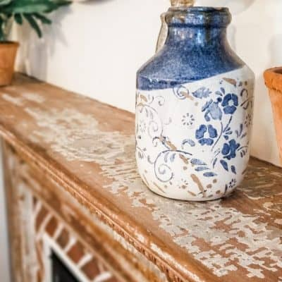 French Country Farmhouse Style Reclaimed Fireplace Reveal