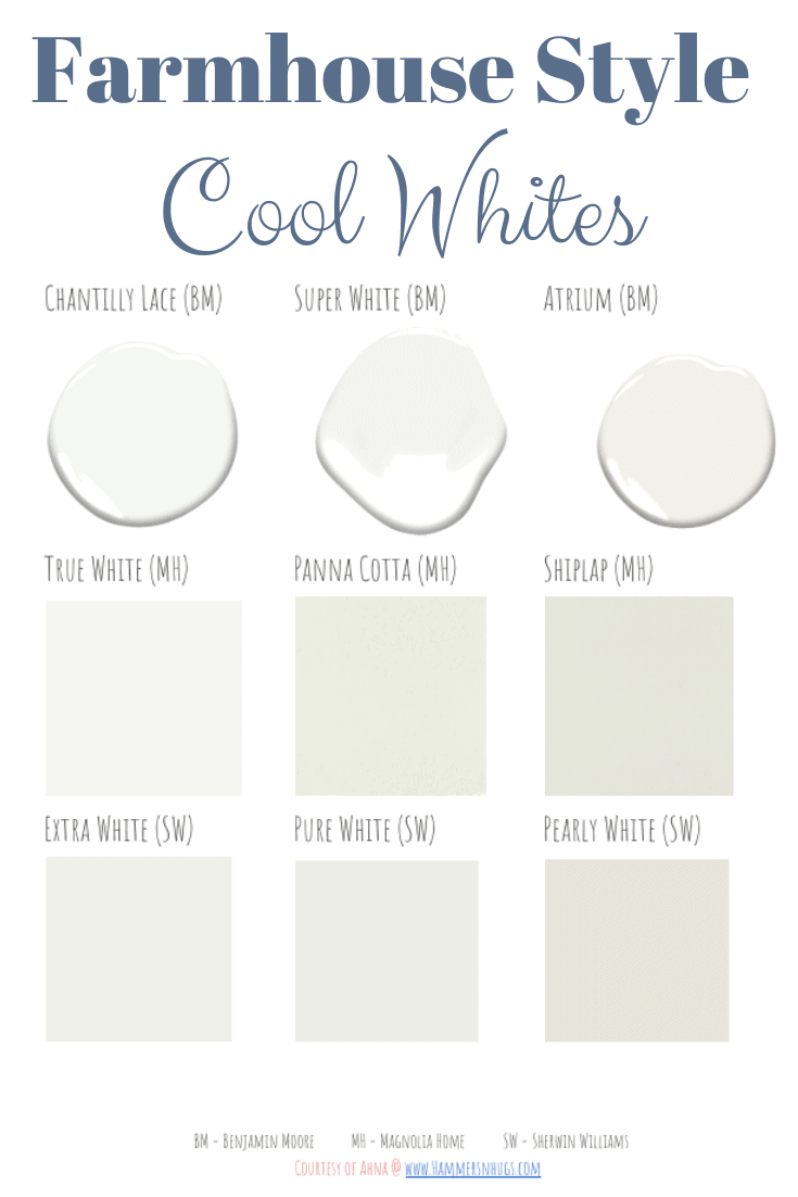 The Best Cool White Paint Colors Hammers N Hugs