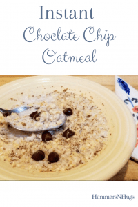 Instant Chocolate Chip Oatmeal Reicpe