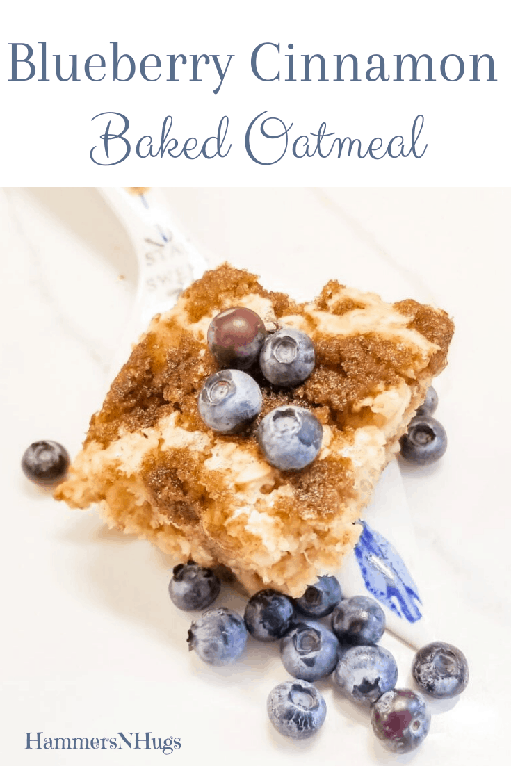 Blueberry Cinnamon Baked Oatmeal Recipe