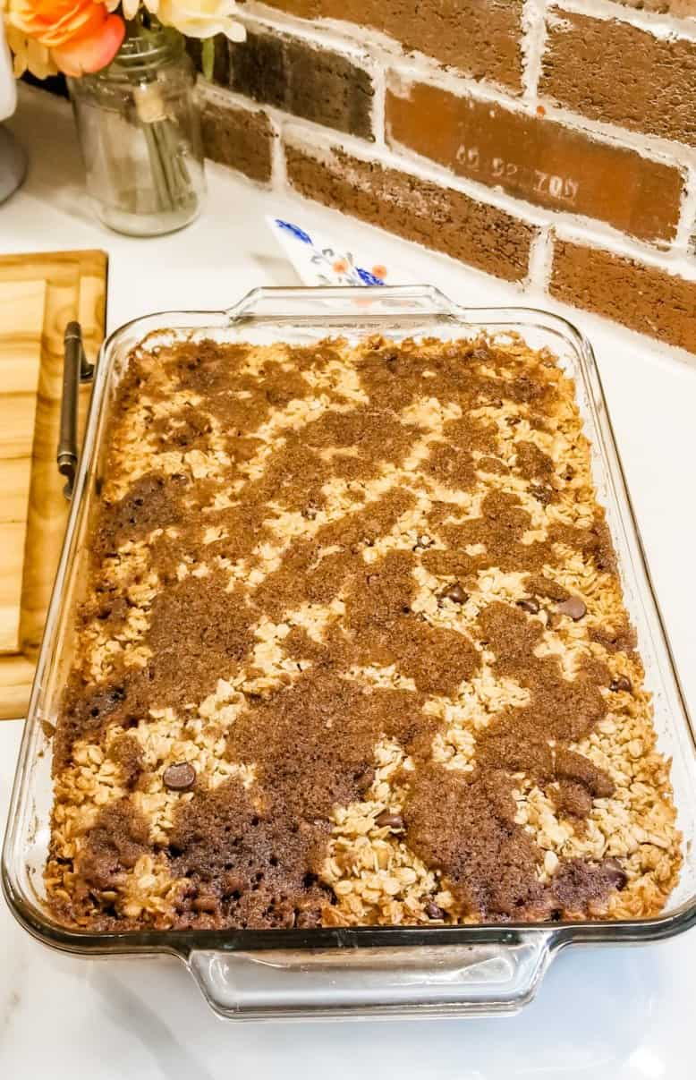 Chocolate Chip Cinnamon Baked Oatmeal Recipe