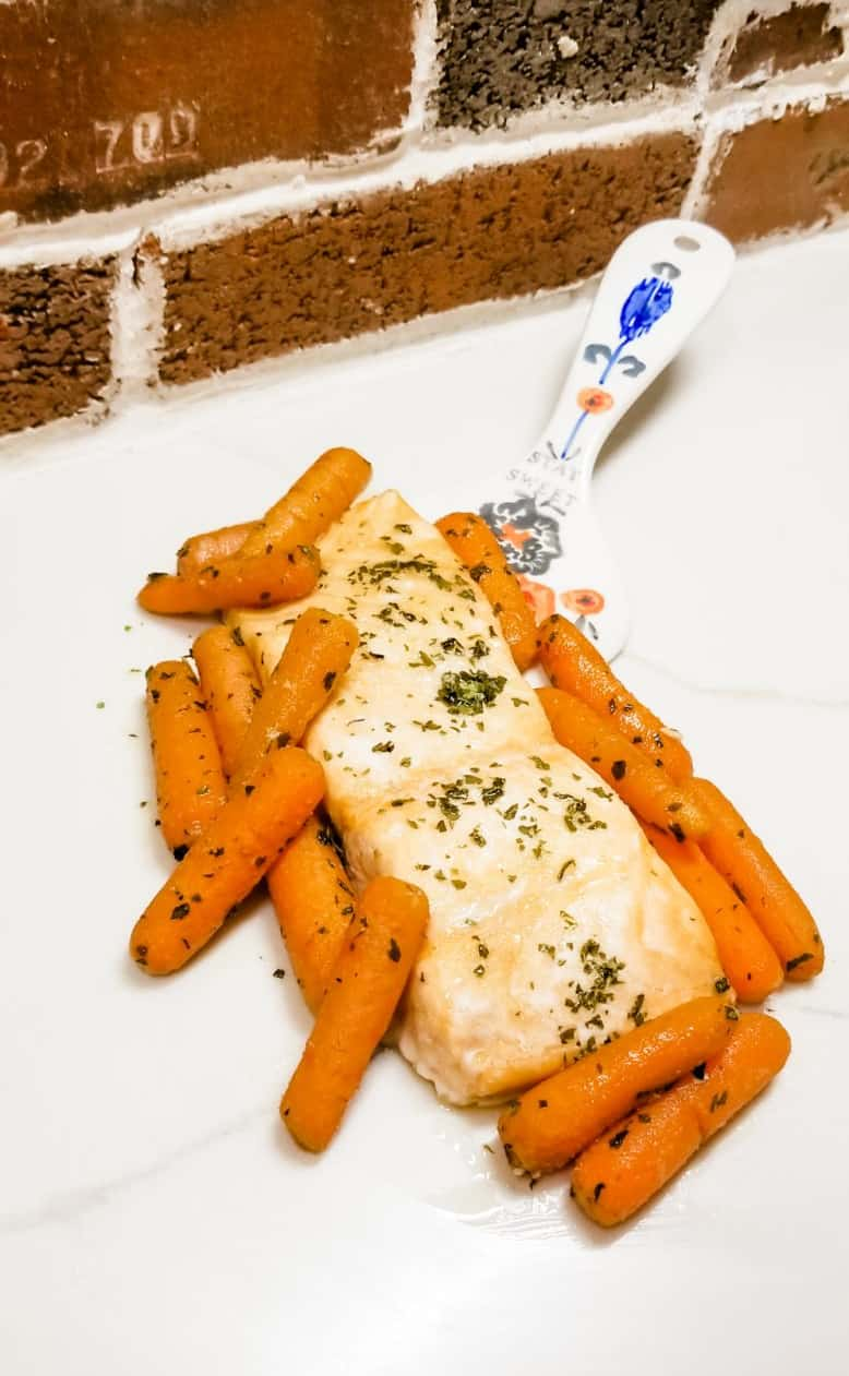 Sheet Pan Honeyed Salmon and Carrots Recipe
