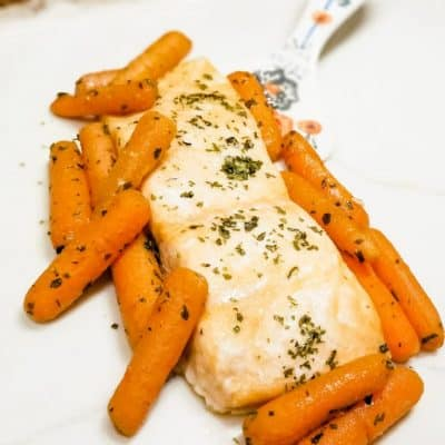 Sheet Pan Honeyed Salmon and Carrots