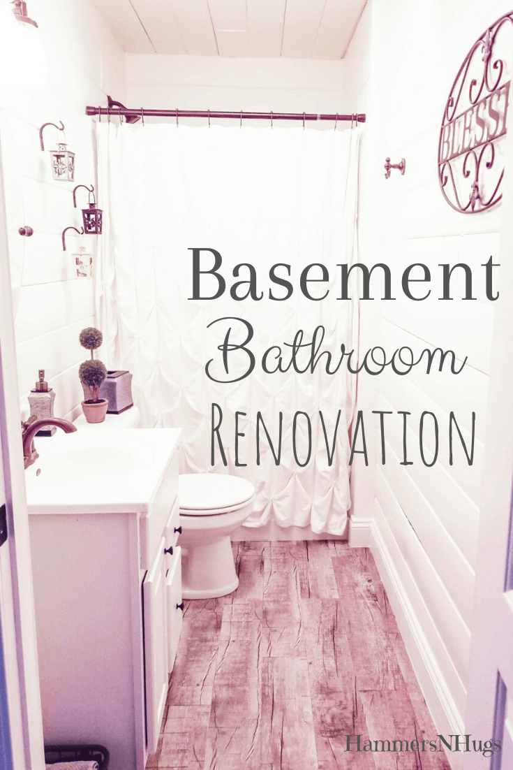 Before and After Farmhouse Style Basement Bathroom Renovation