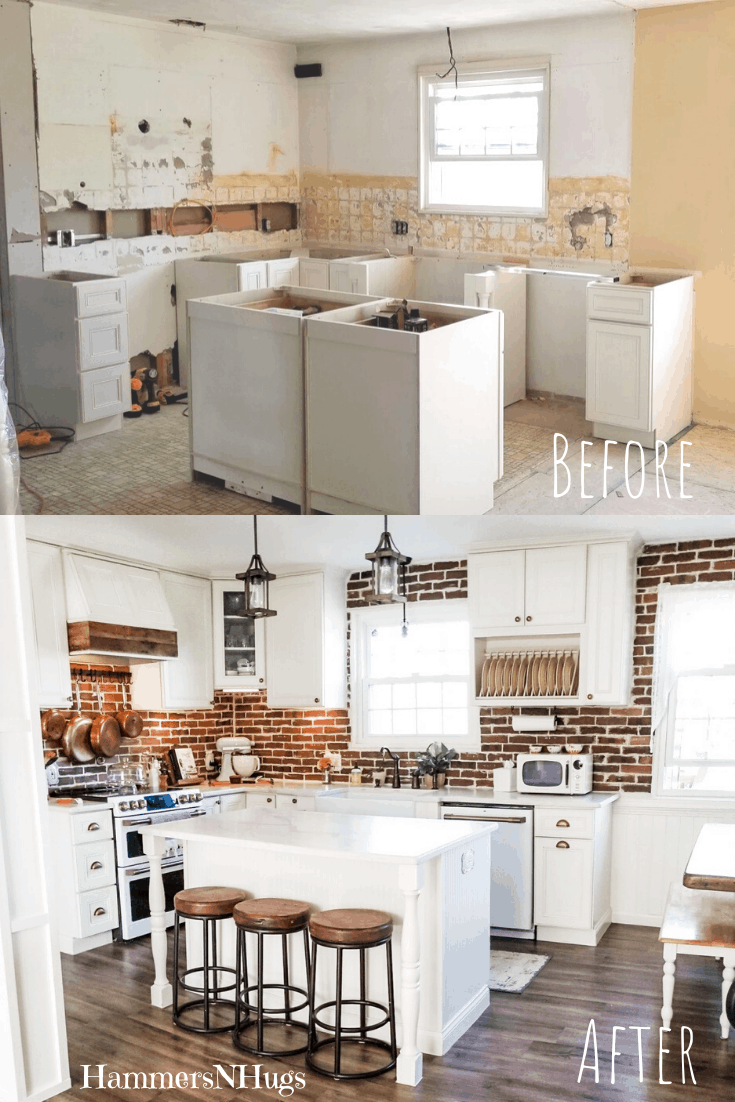 Before and After French Country Cottage Kitchen Renovation
