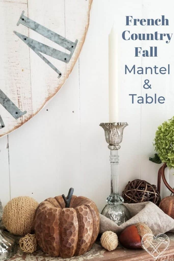 French Country Cottage Fall Mantel and TAble