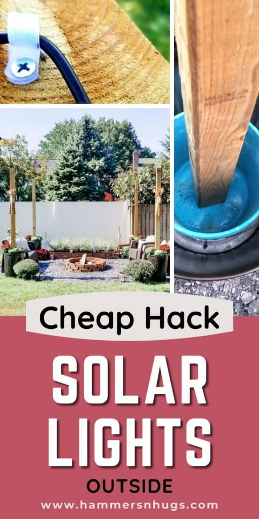 STRING OUTDOOR SOLAR LIGHTS WITH THIS CHEAP HACK