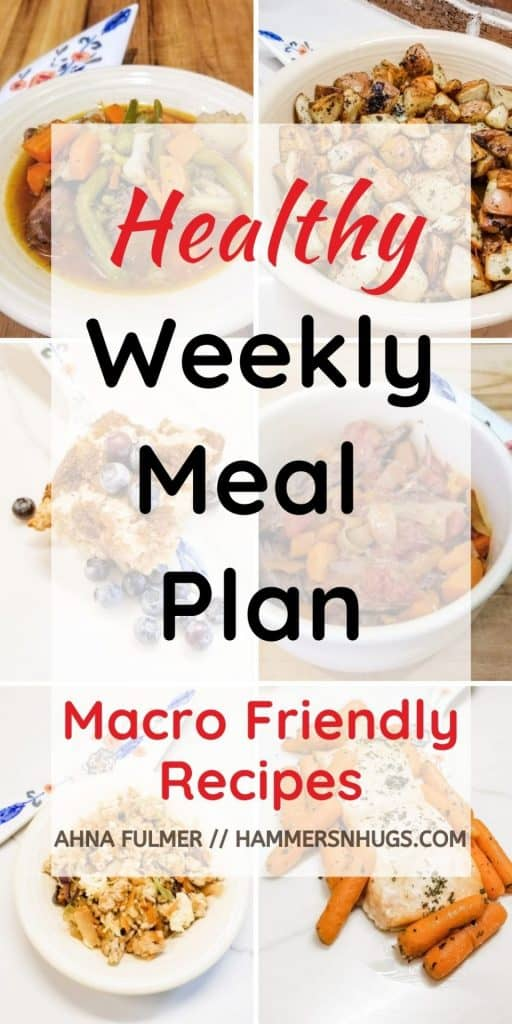 HEALTHY WEEKLY MEAL PLAN WITH GROCERY LIST #1