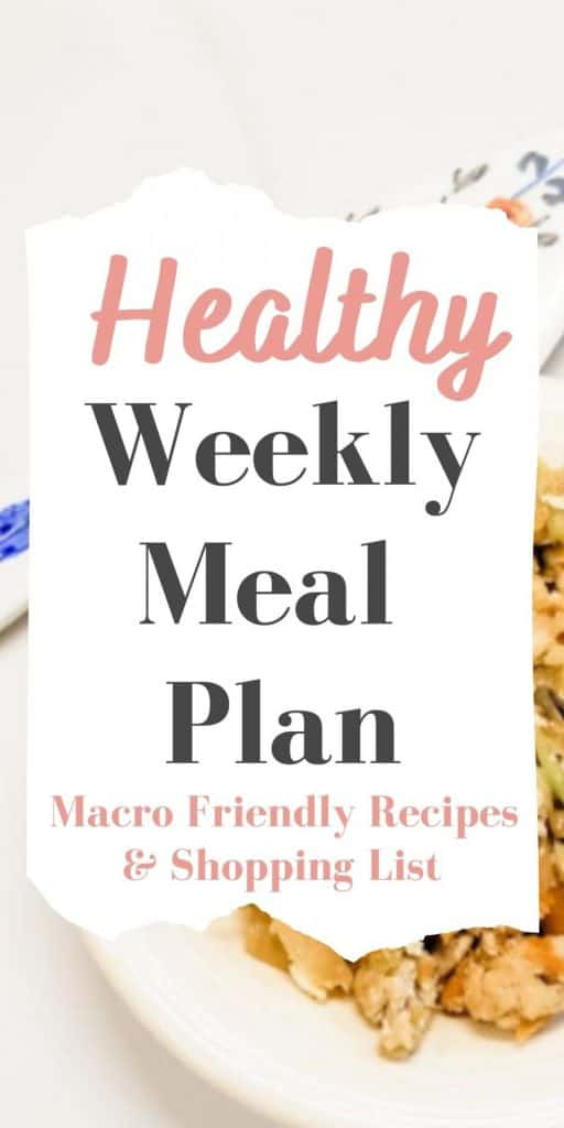 Healthy Weekly Meal Plan and Shopping List #1