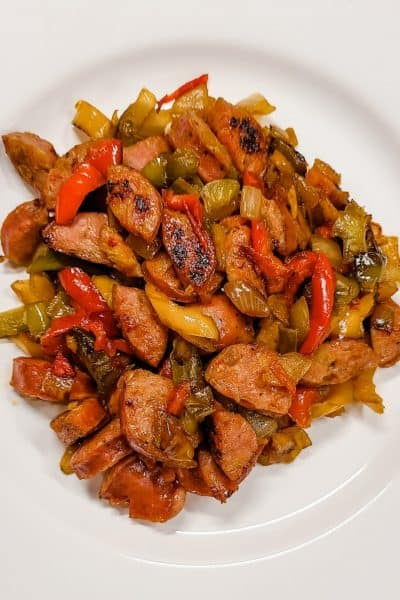 Skillet Sausage and Peppers Recipe